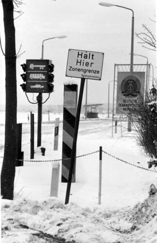 1969-11-25 B-Esk 103 Verkbat; Bezoek aan de toenmalige Oostgrens van Duitsland, Inner Deutsche Grenzen