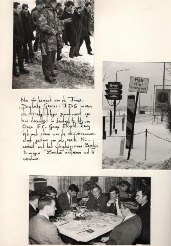 1969-11-25 B-Esk 103 Verkbat; Bezoek aan de Oostgrens DDR. Fotoboek van de Elnt RRRE Meeder