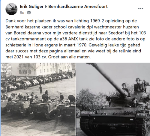 1969 1970 A Esk 103 Verkbat Opleiding Afoort en opstelling in Oerbke. Inz. Erik Guliger 1
