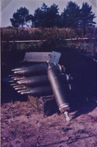 1969 1970 B esk 103 Verkbat Opslag van mortier granaten met voortdrijvende lading...