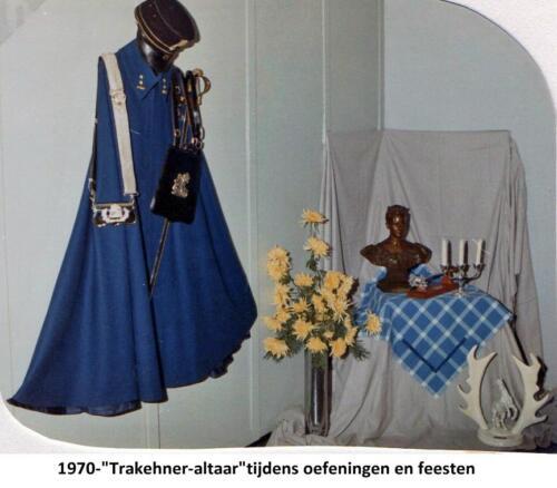 1970 103 Verkbat Het Trakehner altaar wat mee werd gevoerd tijdens oefeningen en feesten