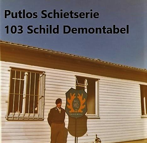1970 1971 SSV Esk 103 Verkbat Schietserie Putlos noord van Hamburg. Inz. Peter Haans 1