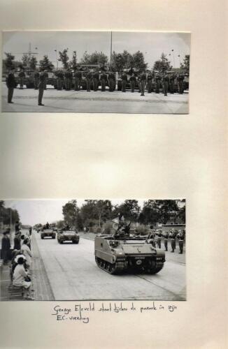 1970 B-Esk 103 Verkbat Ritm G. Eleveld in parade Uit het fotoboek van de Elnt RRRE Meeder