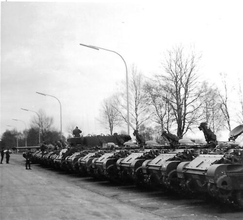 1971 A Esk 103 Verkbat Opstellen middenbaan Seedorf Inz. Bill Nijhuis