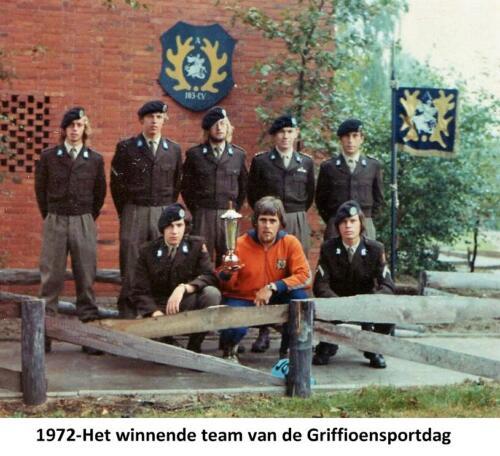 1971 A Esk 103 Verkbat Winnend team Knt Schets. Griffioensportdag.