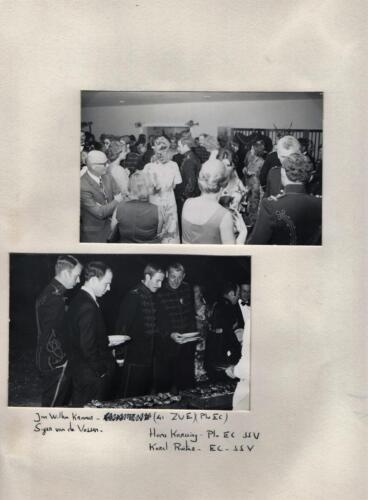 1971 103 Verkbat Trahkenerbal met o.a Karel de Ruiter C-SSV en Plv-C Hans Karssing. Fotoboek Ritm Renie Meeder