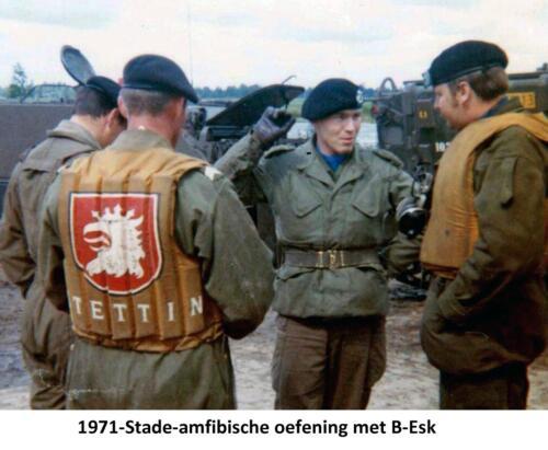 1971 B-Esk 103 Verkbat Amfibische oefening in Stade Fotoboek Ritm R. Meeder  (1)