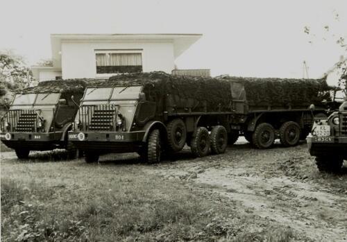 1972 06 23 B Esk 103 Verkbat Oef Juno Catch. Deel Gevechtstrein BOS en Keukenwagens DAFs 328