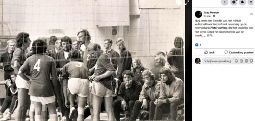 1972 103 Verkbat Volleybalteam Seedorf Met oa Pieter Aaftink Inz. Jaap Heerze