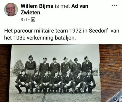 1972 103 Verkbat het militaire team olv Knt Schets