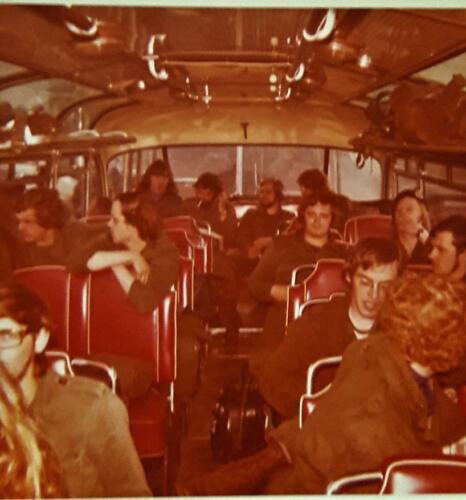1972 1973 A Esk 103 Verkbat Met de antieke bus naar locatie Inz. Jan Brugge