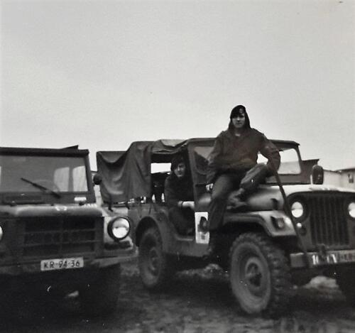 1972 1973 A Esk 103 Verkbat Op oefening met de Nekaf en DKW Munga Inz. Jan Brugge