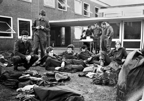 1972 1973 B Esk 103 Verkbat PSU telling o.l.v. Wmr I Geert Snellen Inz.PC 2e Pel Hans van den Hoven