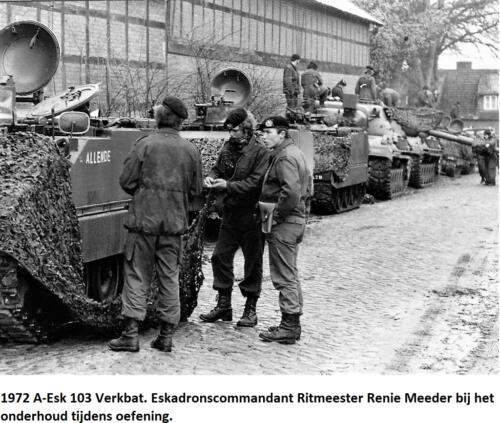 1972 C A-Esk 103 Verkbat, Ritm Renie Meeder bij onderhoud tijdens oefening