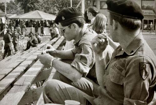 1973 09 A Esk 103 Verkbat Oef Big Ferro met US troepen Inz. Frederik Tattersall 10