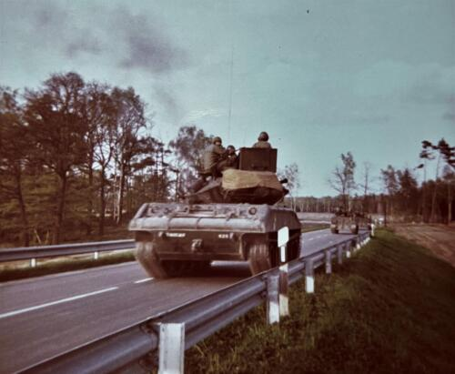 1973 09 A Esk 103 Verkbat Oef Big Ferro met US troepen Inz. Frederik Tattersall 11