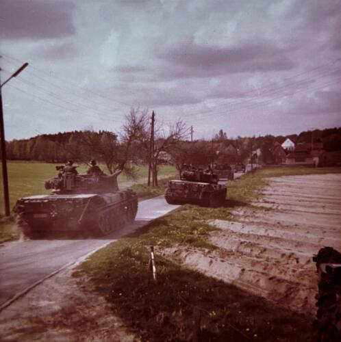 1973 09 A Esk 103 Verkbat Oef Big Ferro met US troepen Inz. Frederik Tattersall 12