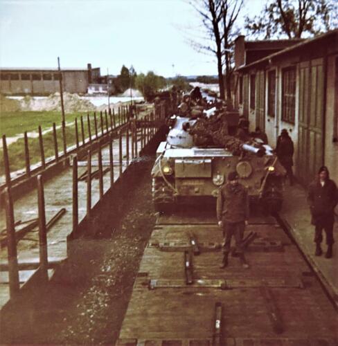 1973 09 A Esk 103 Verkbat Oef Big Ferro met US troepen Inz. Frederik Tattersall 13