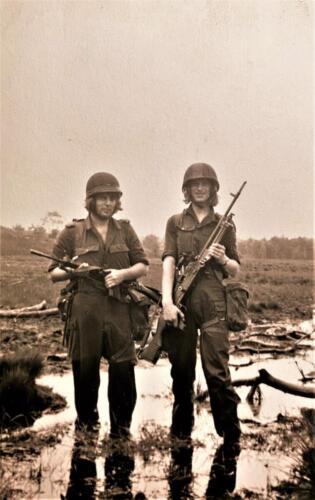 1973 09 A Esk 103 Verkbat Oef Big Ferro met US troepen Inz. Frederik Tattersall 3