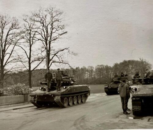 1973 09 A Esk 103 Verkbat Oef Big Ferro met US troepen Inz. Frederik Tattersall 7