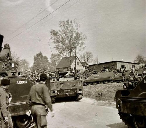 1973 09 A Esk 103 Verkbat Oef Big Ferro met US troepen Inz. Frederik Tattersall 8