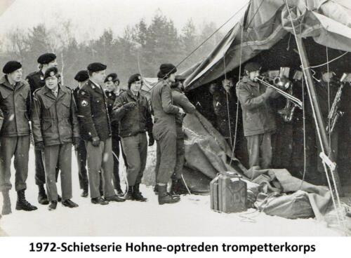 1972 A-Esk 103 Verkbat; Schietserie 72-1 Hohne. Trompetterkorps Owi jhr Bertus Sandberg