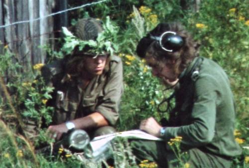 1974 08 23 tm 27 103 Verkbat Oef Wildbaan. 7 Voorbereiding kaart intekenen Inz. Ritm Lukas Maas