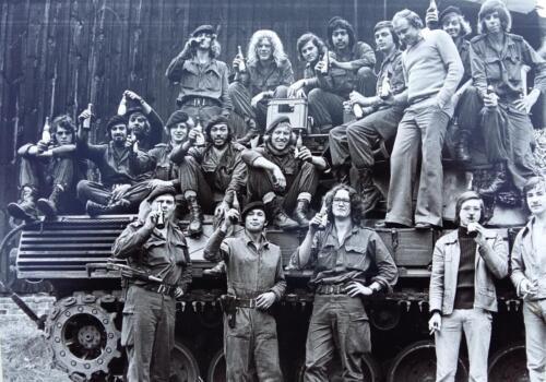 1974 1975 A Esk 103 Verkbat Oef Rust Roest met o.a. Wmr Jan vd Ende Inz. Harry de Groot.