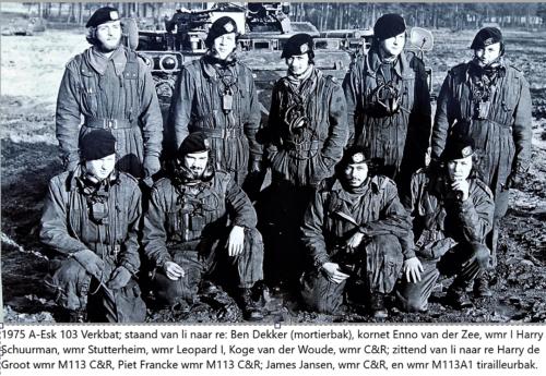 1974 1975 A Esk103 Verkbat 3e Pel Zie tekst. Inz. Wmr Harry de Groot