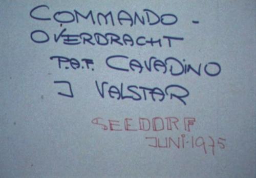 1975 06 103 Verkbat 1 Co overdracht Lkol P.A.F. Cavadino aan Lkol J. Valstar Inz. Ritm Lukas Maas