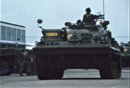 1975 06 103 Verkbat 16 Co overdracht Lkol Cavadino Valstar Parade Inz. Ritm Lukas Maas