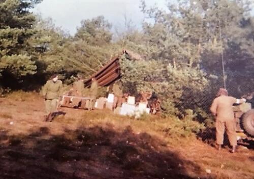 1975 Ossendrecht. 303 Verkesk Inz. John van Zanten in 1970 gediend bij SSV 103 Verkbat 5