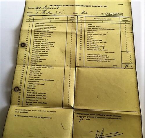 1975 Ossendrecht. 303 Verkesk Inz. John van Zanten in 1970 gediend bij SSV 103 Verkbat 7
