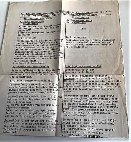 1975 Ossendrecht. 303 Verkesk Inz. John van Zanten in 1970 gediend bij SSV 103 Verkbat 8