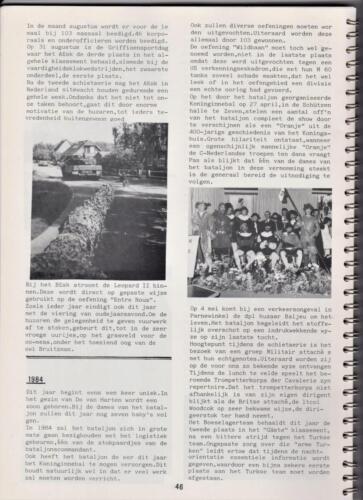 1986 'Contact, wacht uit'... Kroniek van 25 jaar 103 Verkenningsbataljon 46