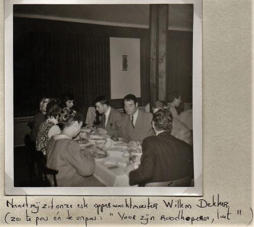 1970 B-esk 103 Verkbat; Diner met o.a. Wmr Kuijpers, Elnt Meeder, Owi Dekker e.a.