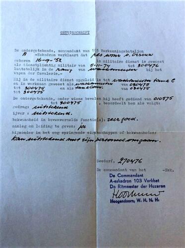 1976 04 29 A Esk 103 Verkbat. Getuigschrift van Ritm Hoogendoorn over Wmr v Orsouw