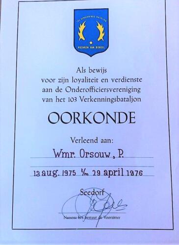 1976 04 29 A Esk 103 Verkbat. Oorkonde Onderoff. vereniging voor Wmr v. Orsouw