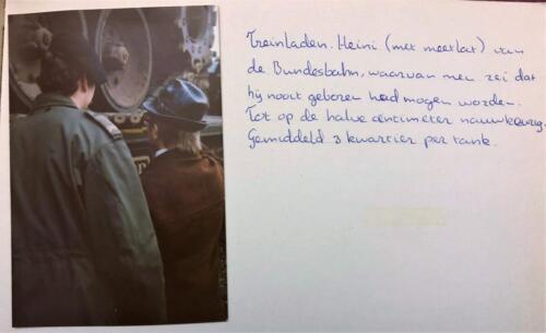 1976 1977 B esk 76 4 103 Verkbat Heini met meetlat Inz. Egbert Jeeninga.