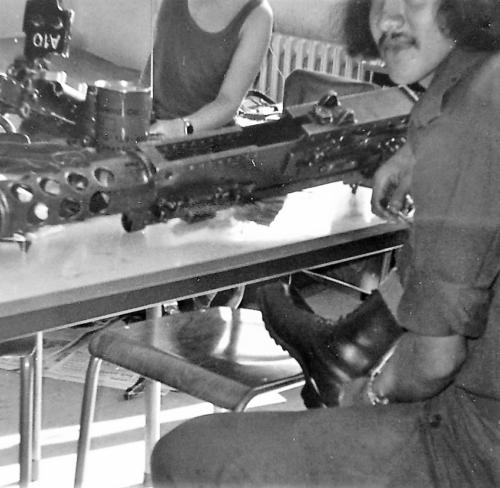1976 A Esk 103 Verkbat Wapenonderhoud .50 Inz. Arnhoud de Beaufort 1