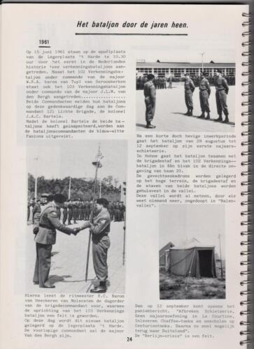 1986 'Contact, wacht uit'... Kroniek van 25 jaar 103 Verkenningsbataljon 24