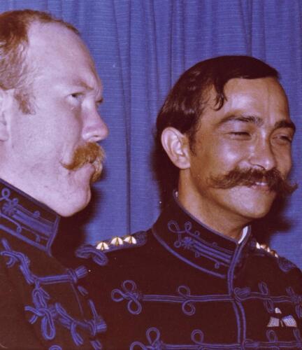 1977 08 12 103 Verkbat Co overdracht Valstar. Trakehnerbal Peer de Vries Henk Nix. Inz. Res. Ritm Lukas Maas 1