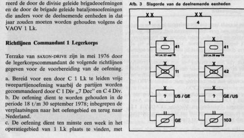 1978 09 18 tm 30 Organigram deelnemende troepen Saxon Drive