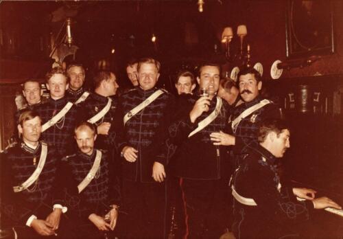 1979 09 16 Rond Prinsjesdag Piano ruiter ere escorte Ritm Frits Piekema. Midden de inz. Res. Ritmeester Lukas Maas