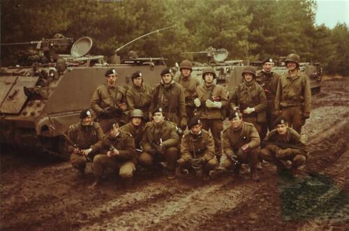1979 1980 A Esk 103 Verkbat 21. Groepsfoto 1e pel met o.a. vooraan midden Wmr I Kees Dekkers Inz. Mortierist Peter van der Spek 2