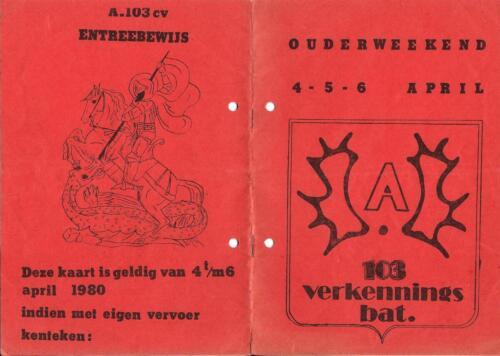 1979 1980 A Esk 103 Verkbat 22. Inz. Mortierist Peter van der Spek 1