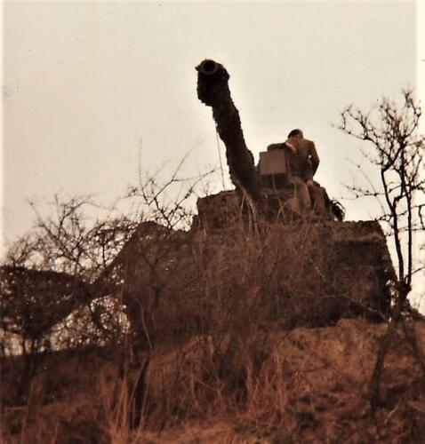 1979 1980 A Esk 103 Verkbat. 4. Leopard I vredes en oefenopstelling. Inz. Mortierist Peter van der Spek 1