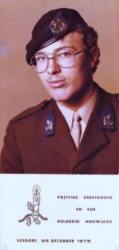 1979 1980 A Esk 103 Verkbat. Nieuwjaarswens van inz. Mortierist 1e Pel Peter van der Spek