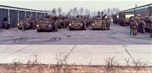 1979 A Esk 103 Verkbat Opgesteld voor afmars. Foto Peter Stuurman