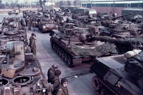 1979 A Esk 103 Verkbat Opgesteld voor afmars. Foto Peter Stuurman 2
